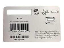 Sprint Simolw416C Uicc Icc Nano Sim Card Samsung Galaxy S6 S6 Edge