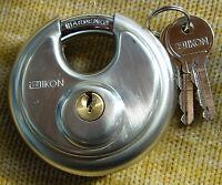 IKON  Vorhangschloss DISC 24/70 Edelstahlschloss mit 2 Schlüssel