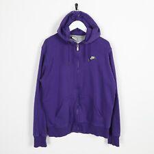 Vintage NIKE Small Logo Zip Up Hoodie Sweatshirt Purple Large L
