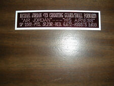 MICHAEL JORDAN NAMEPLATE FOR SIGNED BALL CASE/JERSEY CASE/PHOTO