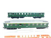BX117-0,5# 2x Sachsenmodelle ? H0/DC Personenwagen DB: A4yse + B4ye, NEUW