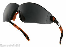 Delta Plus Venitex Vulcano 2 Smoked Protective Safety Eyewear Glasses Specs PPE