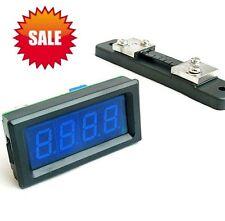 DC 0-50A Blue LCD LED Digital Ammeter AMP Meter + Shunt  DC 6-15V