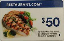 $50 Restaurant.com Gift Certificate No Expiration Date