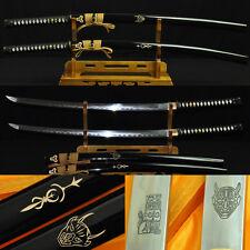 KILL BILL SWORDS SET (BILL+ BRIDE SWORDS) FOLDED STEEL CLAY TEMPERED BLADE