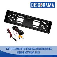 PORTATARGA CON TELECAMERA RETROMARCIA AUTO RETROCAMERA 4 LED 170 ° VISIONE NOTTE