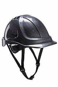 Portwest PC55 Hard Hat Safety Endurance Carbon Helmet Lightweight Vented - Grey