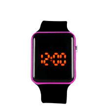 Men Womens Silicone LED Sport Watch Touch Digital Bracelet Wrist Watches Black