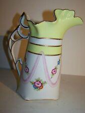 Sale! Gorjus Royal Doulton Danube Vtg Water Pitcher rose floral chain pink Mint!