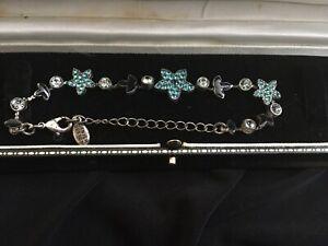 Pilgrim Flower Bracelet Turquoise Stones