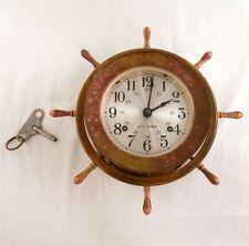 New listing Vintage Seth Thomas 1008 Helmsman-W E537-001 Ships Wheel Chime Clock