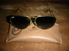 cc423424fbfb VINTAGE B L AVIATOR RAY BAN 12K GOLD FILLED SUNGLASSES + CASE