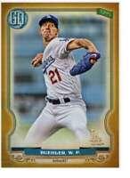 Walker Buehler 2020 Topps Gypsy Queen 5x7 Gold #158 /10 Dodgers
