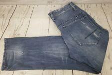 3rd & Army Anderson Jeans Sz 32 Men Blue Denim Distressed Destroyed Medium Wash