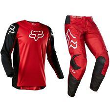2020 Fox Racing 180 мотокросс Mx велосипед комплект штаны Джерси-Prix огненно-красный