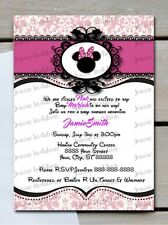 Minnie Mouse Baby Shower Invites 10- Printed 5x7