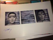 """HR Giger artwork """"KOO KOO"""" Hand Signed Debbie Harry of BLONDIE coa + photo SALE"""