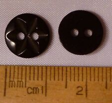 10 pk 15mm Purple Aubergine plastic with metal insert shank Star Buttons Ref5269