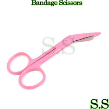 "Lister Bandage Scissors 3.5"" Pink Color Surgical Instruments Stainless Steel"