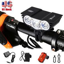 15000Lumen 3x T6 LED Head Headlamp Front Bicycle Bike Light HeadLight W/Battery