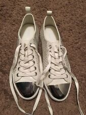 Coach Makayla White And Silver Shoes Size 8- New Without Box, Paid $110 At Store
