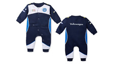 Brand New Genuine Volkswagen Baby Romper Suit 80/86 Dark Blue Motorsport Collect
