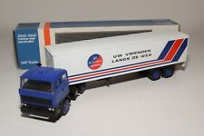 ± LION CAR DAF 2800 TRUCK WITH TRAILER LES ROUTIERS EUROPEENS NEAR MINT BOXED