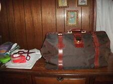ALESSANDRO VENANZI' Jacquard Travel Satchel chestnut/cordovan style #9703 NEW