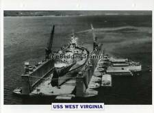 1921 USS WEST VIRGINIA Battleship Capital Ship USA Warship Photograph Maxi Card
