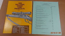 1980 Williams Guide Line Gun Signt Catalog RETAIL PRICE LIST