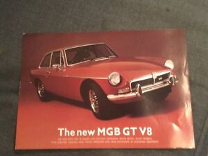 MG THE MGB GT LIMITED EDITION ORIGINAL FACTORY SALES BROCHURE DIN 70020 RARE