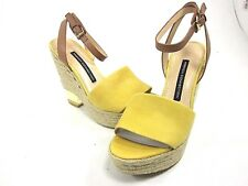 FRENCH CONNECTION, ABBY SANDAL, WOMENS, YELLOW/ COWBOY, US 5M, EUR 37.5, N.I.B