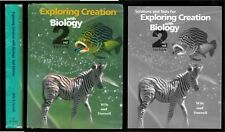 Apologia Exploring Creation w BIOLOGY 2nd Ed. STUDENT TEXT, SOLUTIONS TESTS Wile