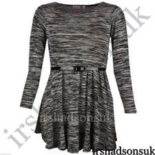 Vêtements robes gris à longueur de manches manches longues pour fille de 2 à 16 ans