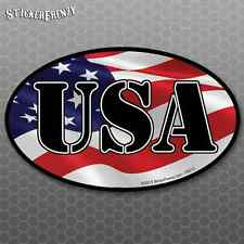"USA Flag ""Oval"" Sticker - Vinyl Car Truck Window Bumper Decal America US #FS215"