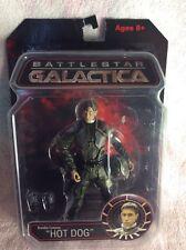"Entièrement neuf dans sa boîte Battlestar Galactica Brendon Costanza ""Hot Dog"" Figure"