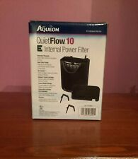 Aqueon QuietFlow 10 E Internal Power Filter 10gal SM (Cycled/Used)