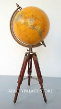 "Home Decor Globe World Map 8"" Globe with Wooden Tripod Globe"