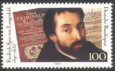 Germany 1991 Langenfeld/Music/Score/Poet/Books/Human Rights/People 1v (n31850)