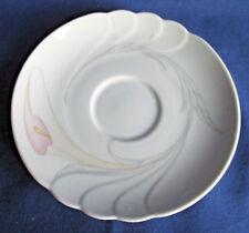 Seltmann Weiden Untertasse 14,4 cm, Helena rosa Blume, weitere Porzellan