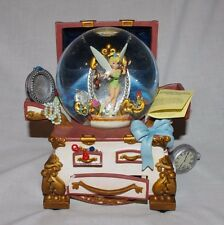 Disney TINKERBELL TREASURE CHEST - MUSIC BOX SNOW GLOBE - Peter Pan Works!