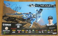 2016 Phil Nicoletti signed JGR Yamaha YZ450F AMA Supercross Motocross poster