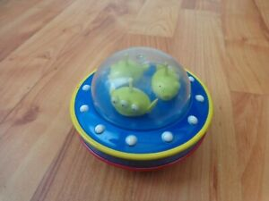 RARE 8CM CLASSIC DISNEY TOY STORY X3 ALIENS IN SPACESHIP TOY FIGURE