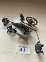 BRITAINS SWOPPET ACW UNION GUN CREW AND CANNON IN GOOD PLAY WORN CONDITION