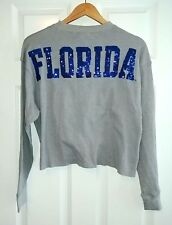 new VICTORIA'S SECRET PINK BLING cropped FLORIDA thermal long sleeve shirt s