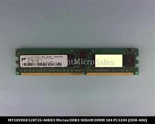 Micron MT18VDDF12872G-40BD3 DDR 1GB PC-3200 Reg ECC 400Mhz 1Rx4 RAM Memory