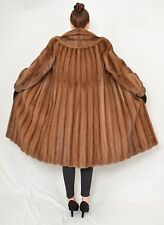 US347 Vintage Mink fur coat jacket FULL LENGTH manteau de vison Nerzmantel ca. M