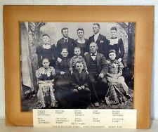 "Large 12"" Antique Cabinet Photo Immigrant Family Kramer Sophia William Mary"