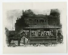 Classic Streetcars - Vintage 8x10 Publication Photograph - Los Angeles - 1890