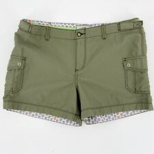 """Horny Toad / Toad & Co Womens Yolo Cargo Shorts 4"""" Inseam Hiking Green Sz 8"""